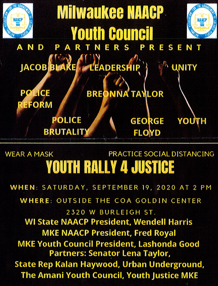 NAACP Milwaukee Youth Council Youth Rally 4 Justice