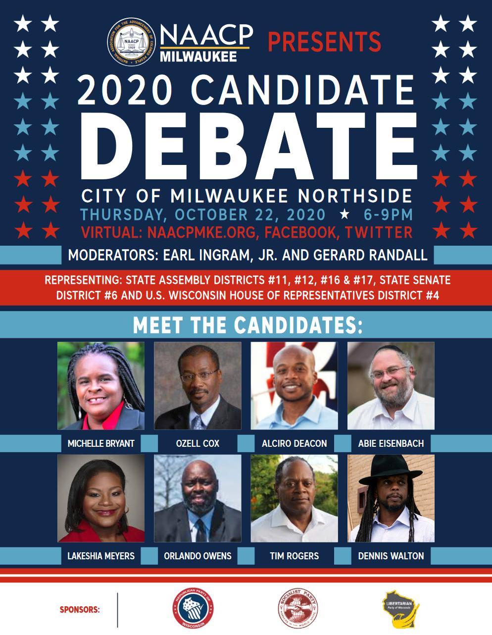 The NAACP-Milwaukee Northside Debate 2020 [virtual]
